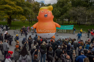 NYC: Impeachment Parade with Baby Trump Balloon